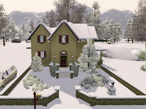 Sims 3 — Cottage Aurora skies no cc by sgK452 — Comfortable house with Christmas decoration in the living room, boy's