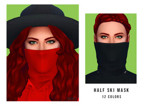 Sims 4 — Half Ski Mask [Female] by OranosTR — - New Mesh - 12 Colors - HQ mode compatible - Handmade Texture - In Ring