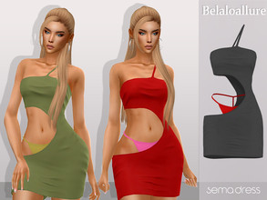 Sims 4 — Belaloallure_Sema dress by belal19972 — skimpy mini dress for your sims , enjoy :)