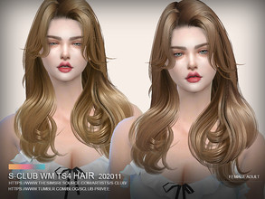 Sims 4 — S-Club ts4 WM Hair 202011 by S-Club — Hairstyle for female adult, 30 swatches, hope you like, thank you.