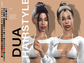 Sims 4 — LeahLillith Dua Hairstyle by Leah_Lillith — Dua Hairstyle All LODs Smooth bones Custom CAS thumbnail Works with