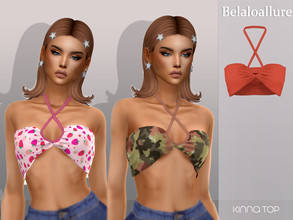 Sims 4 — Belaloallure_Kinna top by belal19972 — Simple top for your sims , enjoy :)