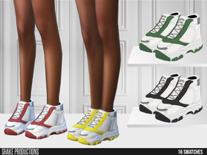Sims 4 — ShakeProductions 558 - Sneakers by ShakeProductions — Sneakers New Mesh All LODs Mesh by me 16 Swatches Credits;