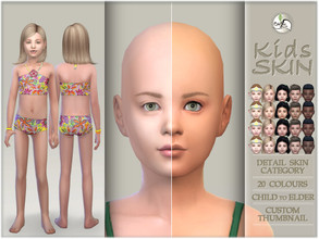 Sims 4 — Kids skin by BAkalia — Hello :) Realistic skin for children: - 5 tones (from fair to deep) - 20 colors - Child