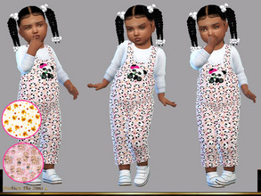 Sims 4 —  Jumpsuit Samara baby by LYLLYAN — Jumpsuit in 3 prints. You must own the latest toddler stuff pack to be able