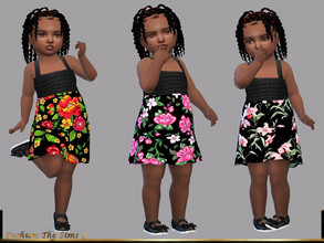 Sims 4 — Dress Dara baby by LYLLYAN — Dress in 3 prints. You must own the latest toddler stuff pack to be able to see
