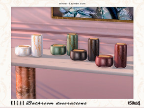 Sims 4 — Regal Containers by Winner9 — Containers from my Regal bathroom, you can find it easy in your game by typing