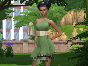 Sims 4 — Get Famous Dress Recolored by Ashuria — Get Famous dress recolored with 5 swatches.