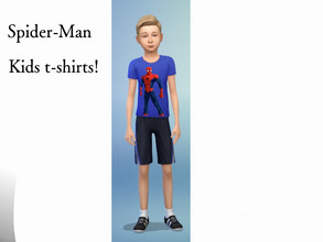 Sims 4 — Blue Spider-Man kids shirt! by spiderman9980 — A blue Spider-Man shirt made just for kids, 1 swatch, base game,
