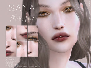Sims 4 — SayaSims - Moles N1  by SayaSims — - 20 Face Placements - 60 Swatches total - 3 Opacities for each placement -