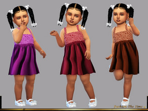 Sims 4 — Dress Elisa baby by LYLLYAN — Dress in 6 colors. You must own the latest toddler stuff pack to be able to see