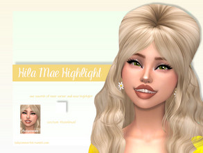 Sims 4 — Hila Mae Highlight by LadySimmer94 — BGC 1 swatch Found in Skin Details Custom Thumbnail (as seen on the ad)