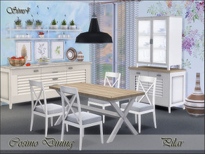 Sims 4 — Cosimo Dining by Pilar — White furniture that reflects light and does not go out of style