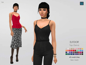 Sims 4 — Top Elena by Elfdor — - 40 swatches - teen to elder - everyday, formal, party - base game compatible - maxis
