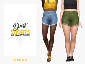 Sims 4 — Dost Shorts by Nords — Hello simmers, Today, I'm sharing with you these cute, simple and ripped shorts. I hope