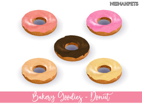 Sims 4 — Bakery Goodies - Donut by neinahpets — A tasty sweet icing dipped donut. 5 Colors Decor - Clutter