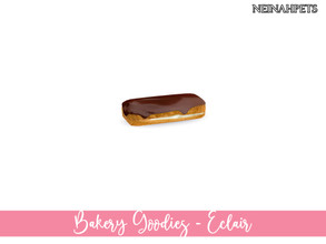 Sims 4 — Bakery Goodies - Eclair by neinahpets — A cream filled eclair with delicious chocolate iced topping. Decor -
