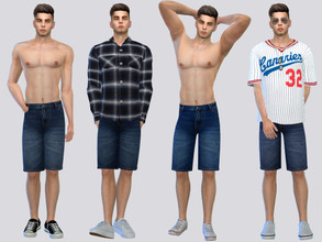 Sims 4 — Jet Denim Shorts by McLayneSims — TSR EXCLUSIVE Standalone item 6 Swatches MESH by Me NO RECOLORING Please don't