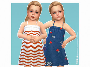 Sims 4 — Minka Dress by lillka — Minka Dress for Toddler Girls 5 swatches Custom thumbnail YOU NEED the Toddler Stuff