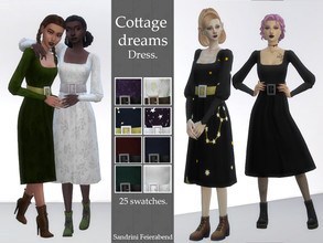 Sims 4 — Cottage Dreams Dress. by Sandrini_Feierabend — Created for: The Sims 4 Simple but elegant maxis match dress with