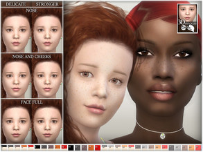 Sims 4 — Freckles by BAkalia — Hello :) Freckles on the face done especially for kids, but they also fit for other age