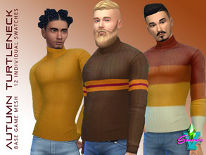 Sims 4 — SimmieV Autumn Turtleneck by SimmieV — You don't have to be a secret agent to enjoy the snug fit of this sleek