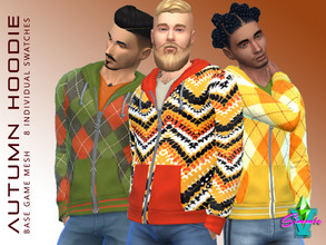 Sims 4 — SimmieV Autumn Hoodies by SimmieV — A collection of 8 individual hoodie designs inspired by autumn colors and