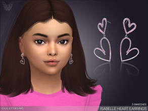 Sims 4 — Isabelle Heart Earrings For Kids by feyona — * 5 swatches * Base game compatible, feminine style choice,