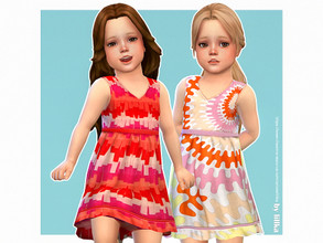 Sims 4 — Mandy Dress by lillka — Mandy Dress for Toddler Girls 3 swatches Base game compatible Custom thumbnail Hair by