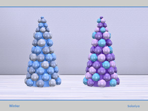 Sims 4 — Winter. Balloon Tree by soloriya — Balloon Christmas tree. Part of Winter set. 2 color variatons. Category: