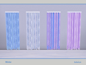 Sims 4 — Winter. Curtans by soloriya — Curtains. Part of Winter set. 4 color variatons. Category: Decorative - Curtains