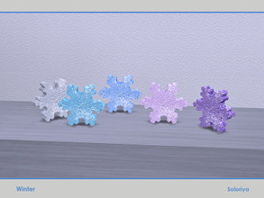 Sims 4 — Winter. Snowflake by soloriya — Decorative snowflake. Part of Winter set. 5 color variatons. Category: