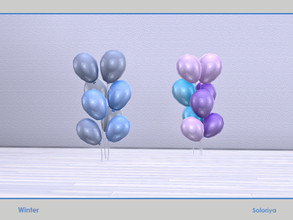 Sims 4 — Winter. Balloons by soloriya — Eight balloons in one mesh. Part of Winter set. 2 color variatons. Category:
