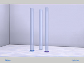 Sims 4 — Winter. Column by soloriya — Decorative glass column. Part of Winter set. 3 color variatons. Category: