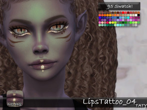 Sims 4 — [Ts4]Taty_LipsTattoo_04 by tatygagg — - Female, Male - Human, Alien - Teen to Elder - Hq Compatible - Skin