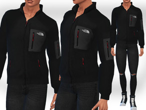 Sims 4 — Male Sims Casual and Sports Jackets by saliwa — Male Sims Casual and Sports Jackets 2 colour options black and