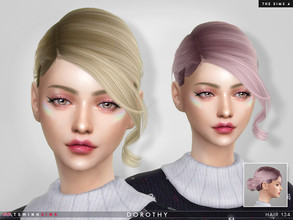 Sims 4 — Dorothy ( Hair 134 ) by TsminhSims — New meshes - 20 colors - HQ texture - Custom shadow map, normal map - All