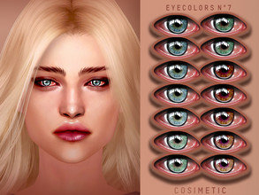 Sims 4 — COSIMETIC Eyecolors N7 by cosimetic — - This eyecolor can use on all genders and from teen to elder. - Contains