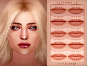 Sims 4 — COSIMETIC Contour N10 by cosimetic — - This contour can use on all genders and from teen to elder. - Contains