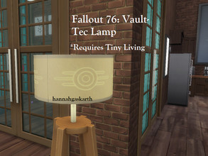 Sims 4 — Fallout 76: Vault Tec Lamp [REQUIRES TINY LIVING] by hannahgaskarth2 — I saw this lamp on the Fallout page and