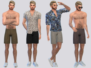 Sims 4 — Royce Bermuda Short by McLayneSims — TSR EXCLUSIVE Standalone item 9 Swatches MESH by Me NO RECOLORING Please
