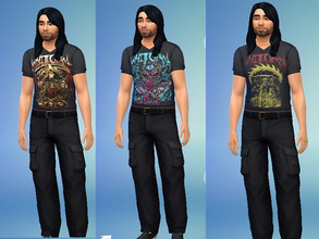 Sims 4 — Whitechapel Band Shirts by Lord_Vortranox — This is a collection of 5 Whitechapel merch shirts.