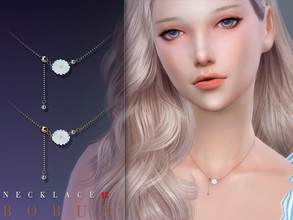 Sims 4 — Bobur Necklace 18 by Bobur2 — Necklace daisy 2 colors HQ hope you like it