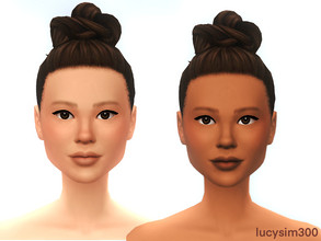 Sims 4 — Soft Face skin (non-default) by lucysim300 — Hello everyone, this is my first face skin and i am very proud of