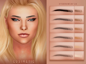 Sims 4 — COSIMETIC Eyebrows N16 by cosimetic — - This eyebrow can use on all genders and from teen to elder. - Contains [