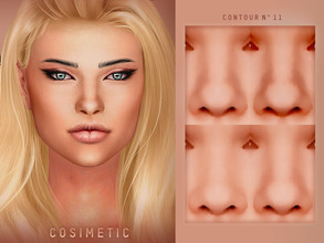 Sims 4 — COSIMETIC Contour N11 by cosimetic — - This contour can use on all genders and from teen to elder. - Contains