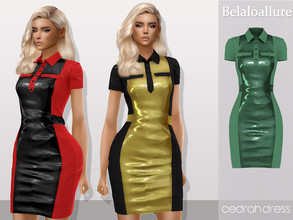 Sims 4 — Belaloallure_Cedrah dress by belal19972 — Simple dress for your dress
