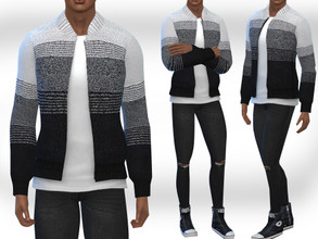 Sims 4 — Male Sims Cardigans by saliwa — Male Sims Cardigans 2 different designs by Saliwa