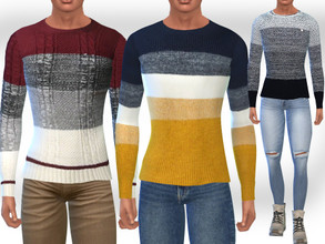 Sims 4 — Male Sims Fit Pullovers by saliwa — Male Sims Fit Pullovers 3 New Different Design Casual Pullovers Full Design
