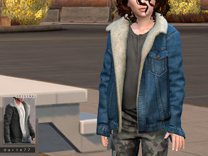Sims 4 — Sherpa Trucker Jacket by Darte77 — - 24 swatches - Shadow and Normal maps - HQ mod compatible This top is a